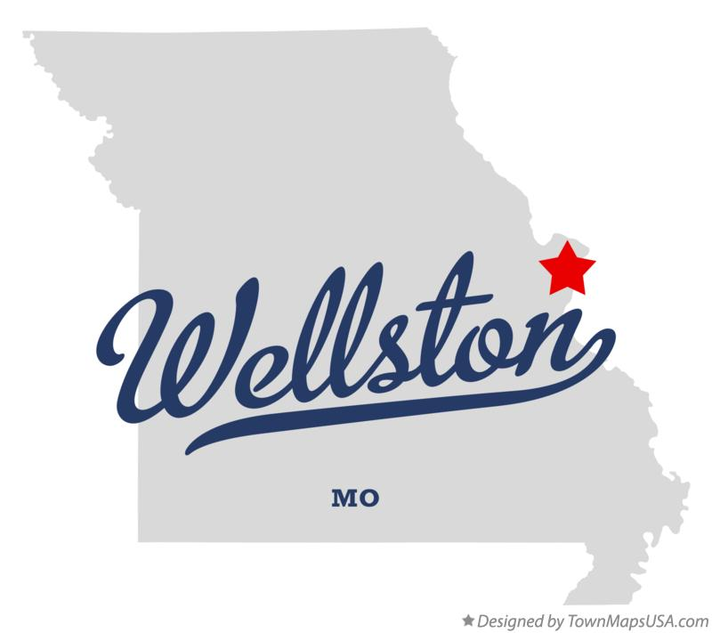 Map of Wellston Missouri MO