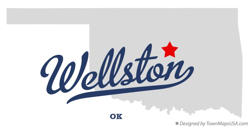 Map of Wellston Oklahoma OK