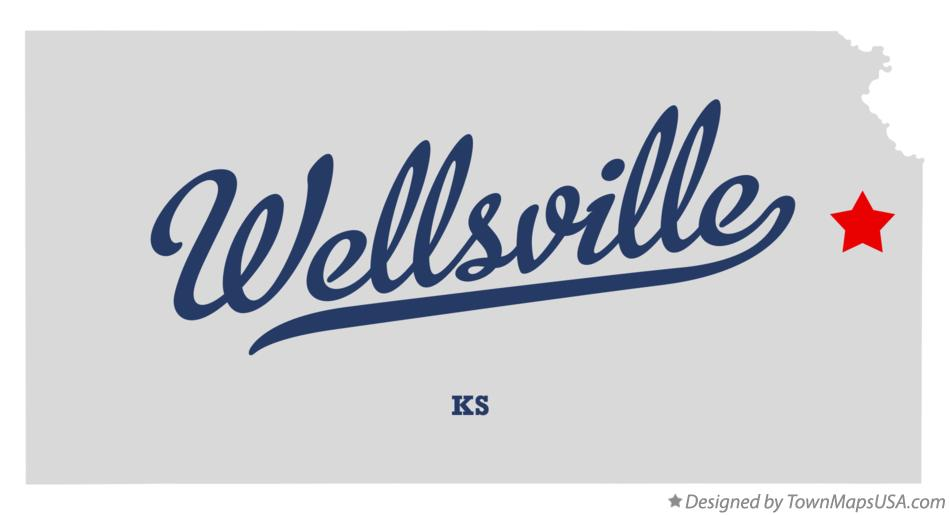 Map of Wellsville Kansas KS