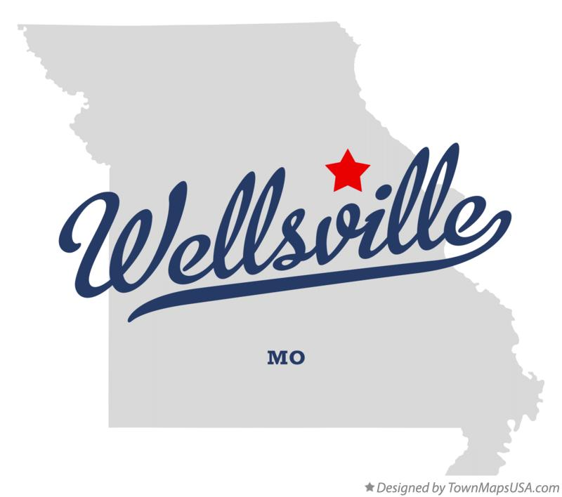 Map of Wellsville Missouri MO