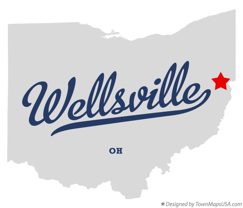 Map of Wellsville Ohio OH