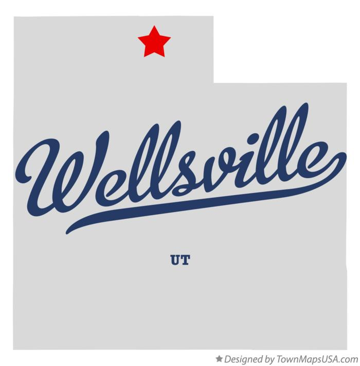 Map of Wellsville Utah UT