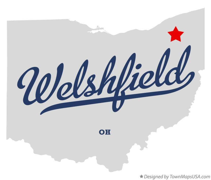 Map of Welshfield Ohio OH