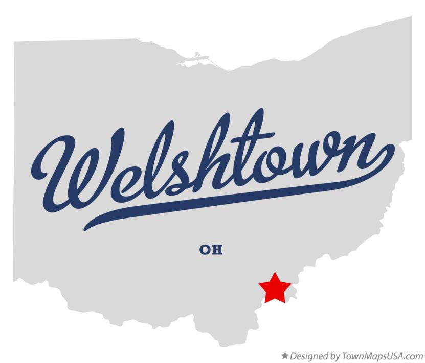 Map of Welshtown Ohio OH