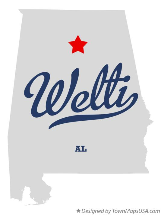 Map of Welti Alabama AL