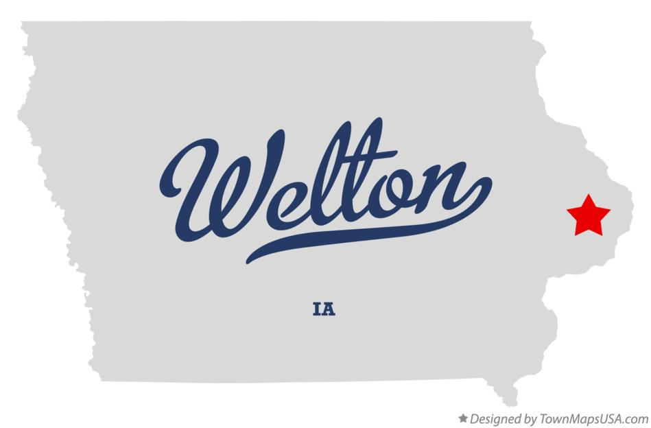 Map of Welton Iowa IA