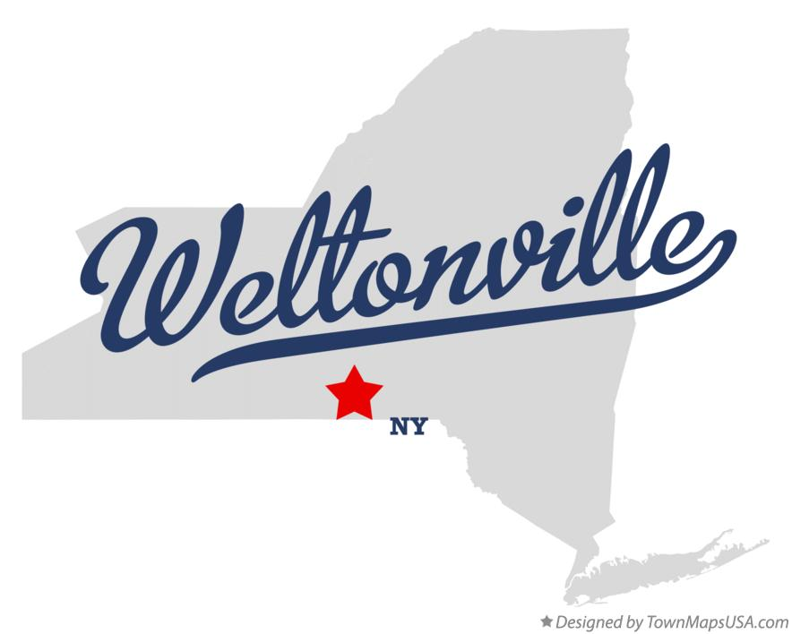 Map of Weltonville New York NY