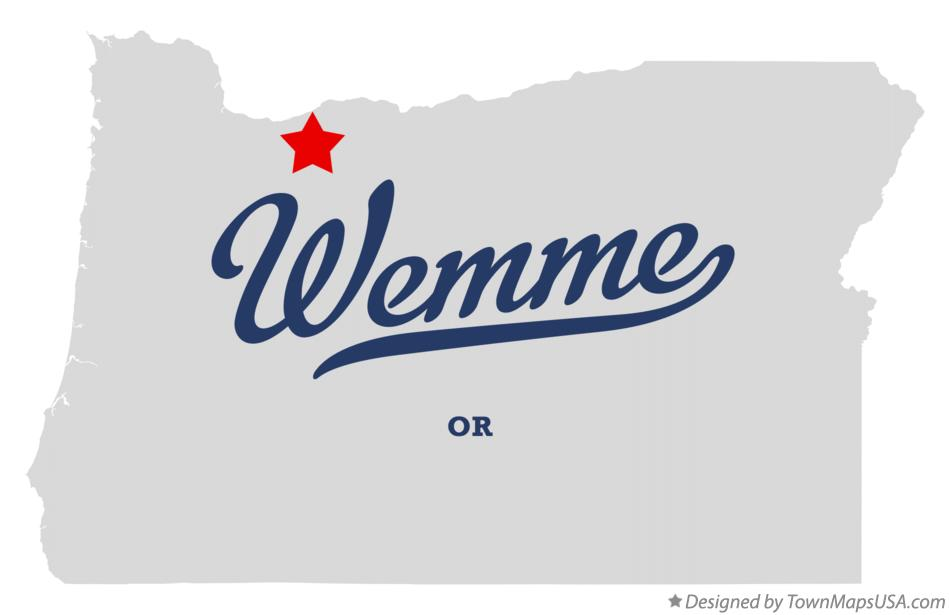 Map of Wemme Oregon OR