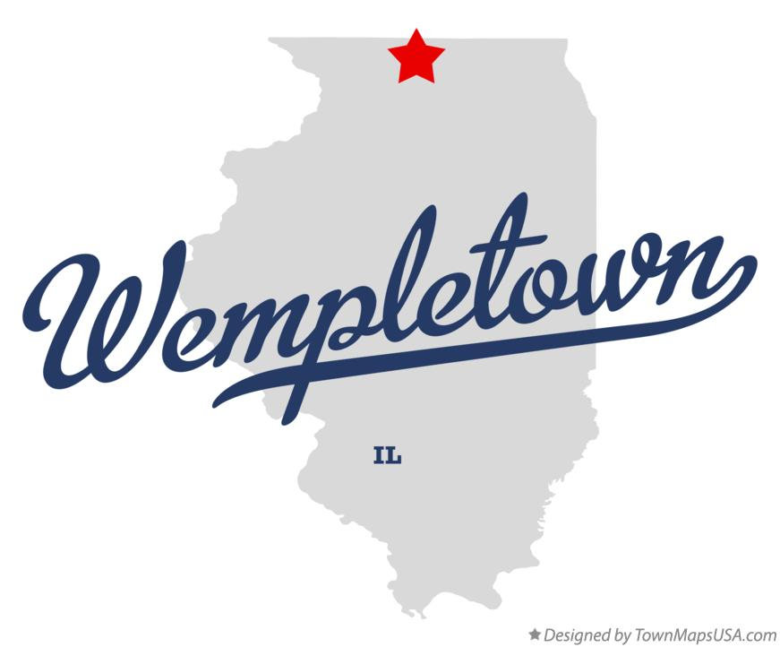 Map of Wempletown Illinois IL