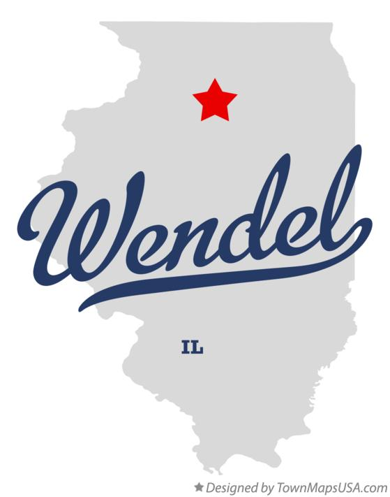 Map of Wendel Illinois IL