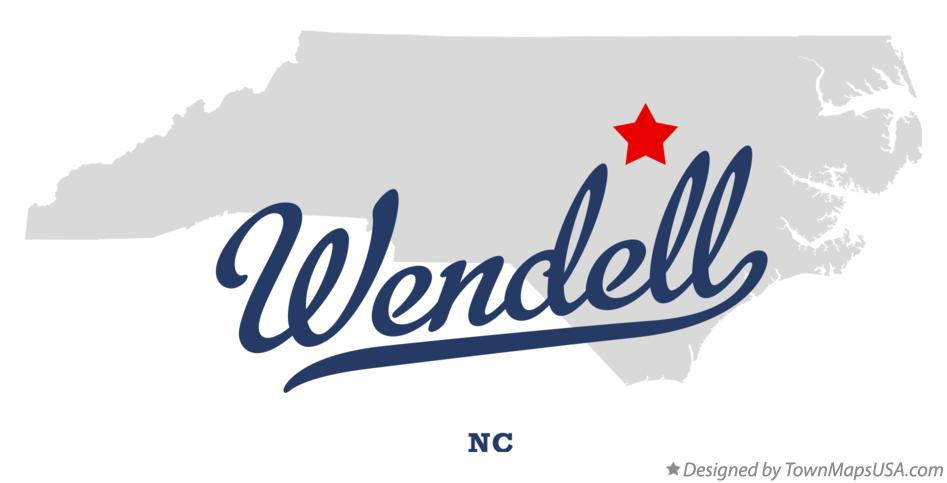Map of Wendell North Carolina NC