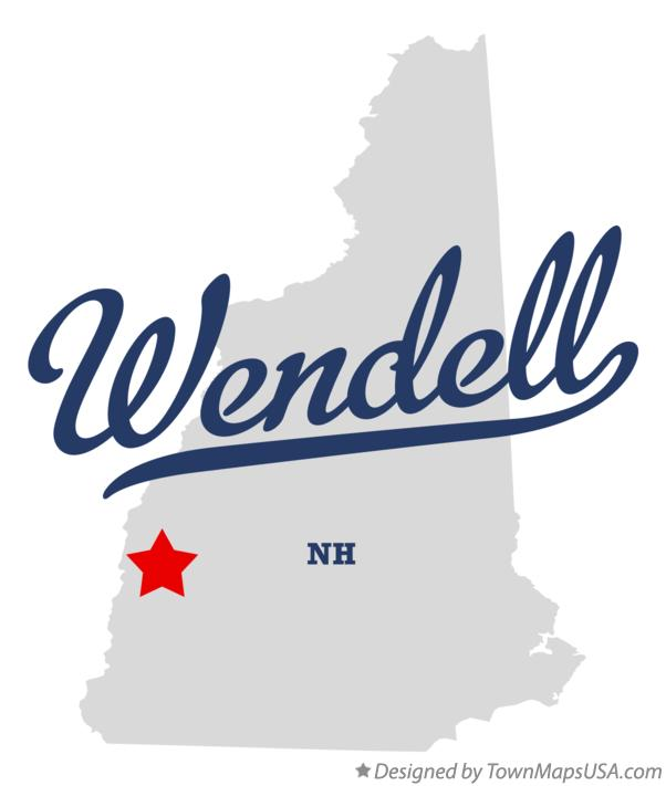 Map of Wendell New Hampshire NH