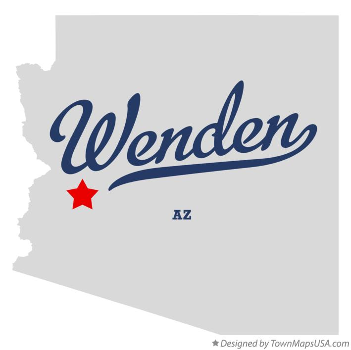 Map of Wenden Arizona AZ