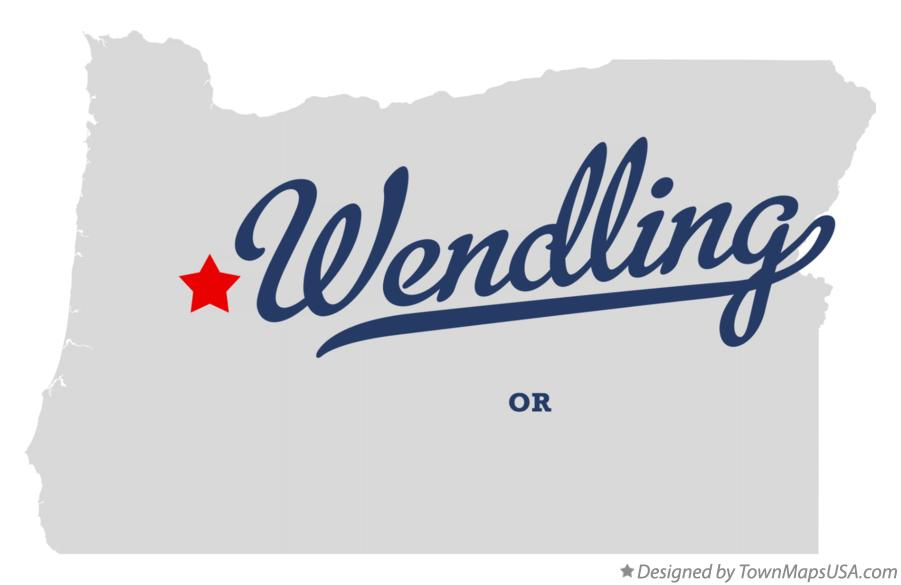 Map of Wendling Oregon OR