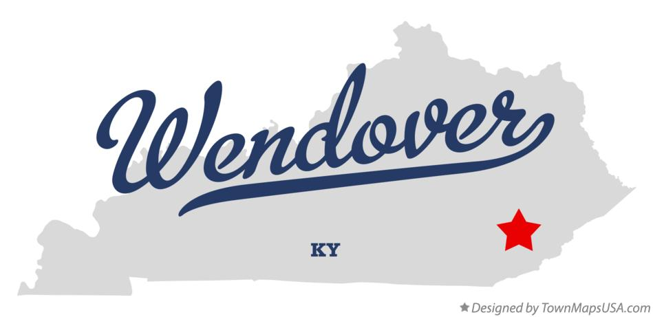 Map of Wendover Kentucky KY