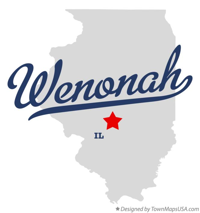 Map of Wenonah Illinois IL