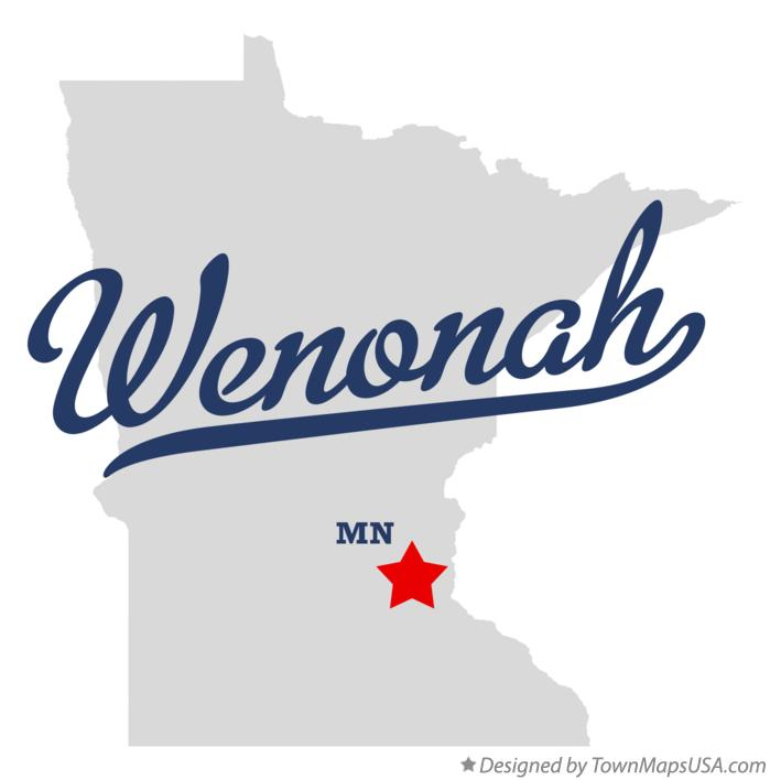 Map of Wenonah Minnesota MN