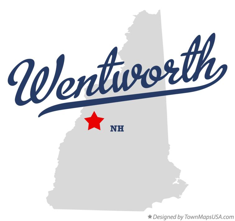 Map of Wentworth New Hampshire NH
