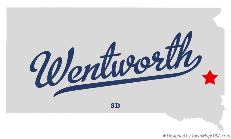 Map of Wentworth South Dakota SD