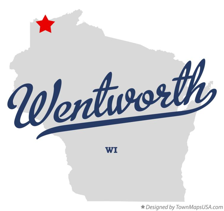 Map of Wentworth Wisconsin WI