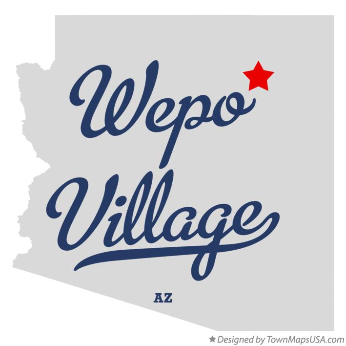 Map of Wepo Village Arizona AZ