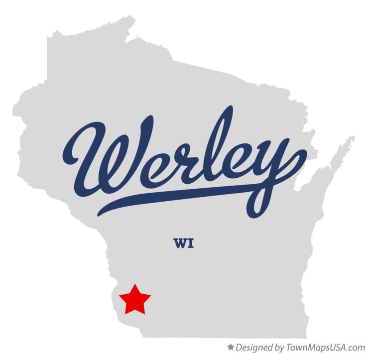 Map of Werley Wisconsin WI