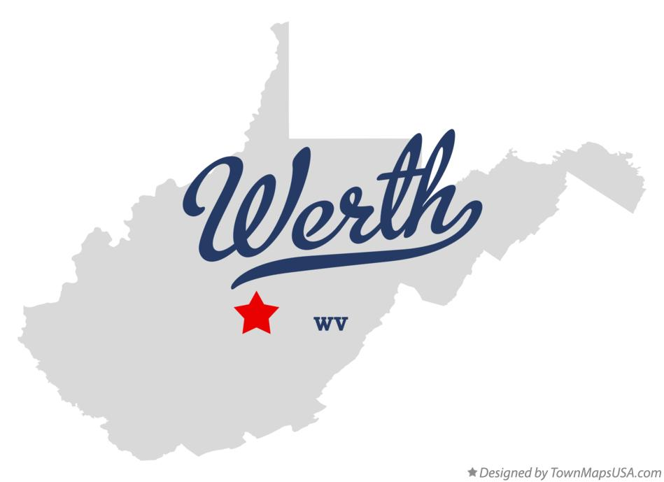 Map of Werth West Virginia WV