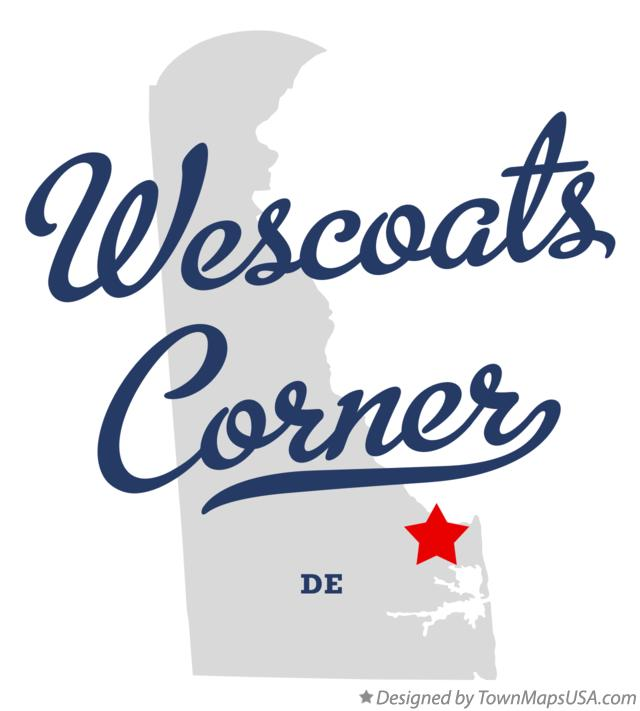 Map of Wescoats Corner Delaware DE
