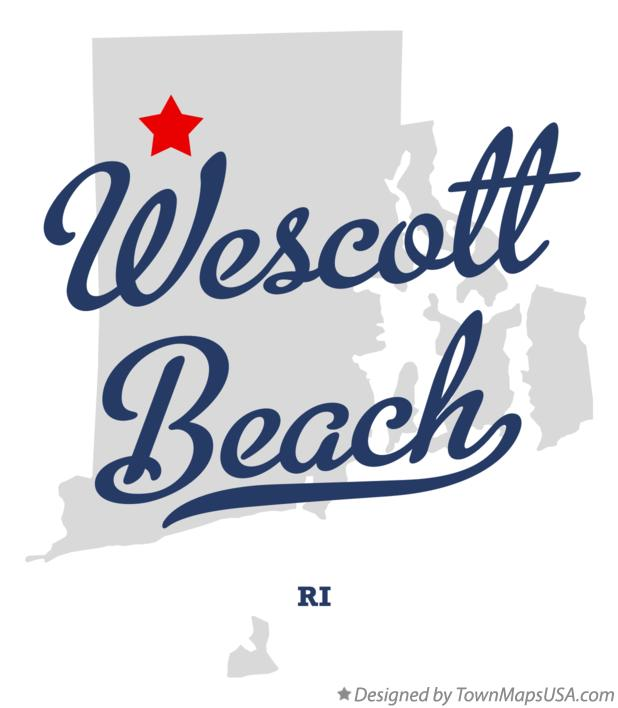 Map of Wescott Beach Rhode Island RI