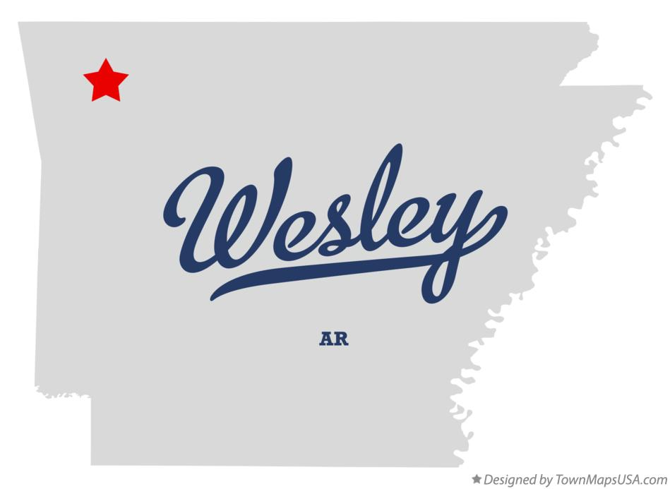 Map of Wesley Arkansas AR
