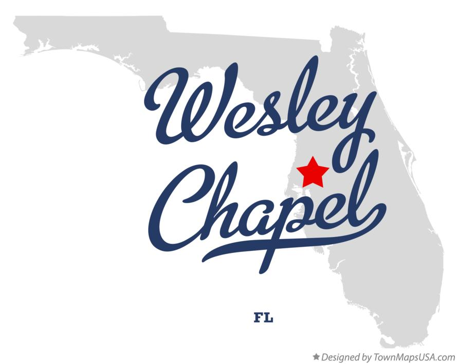 Map of Wesley Chapel Florida FL