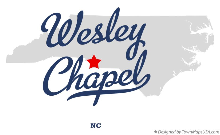 Map of Wesley Chapel North Carolina NC