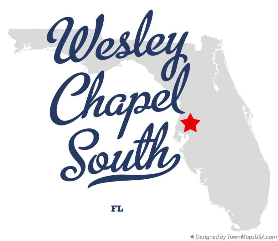 Map of Wesley Chapel South Florida FL