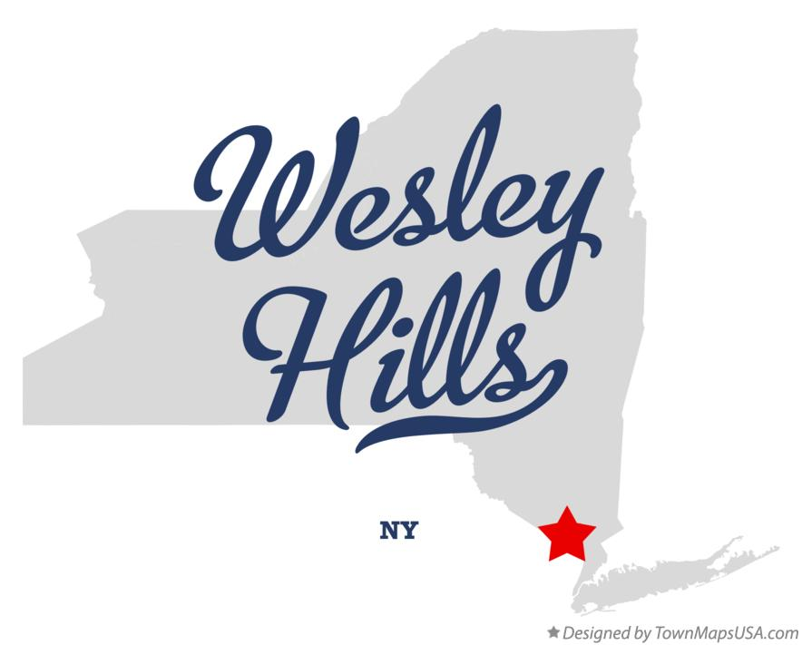 Map of Wesley Hills New York NY