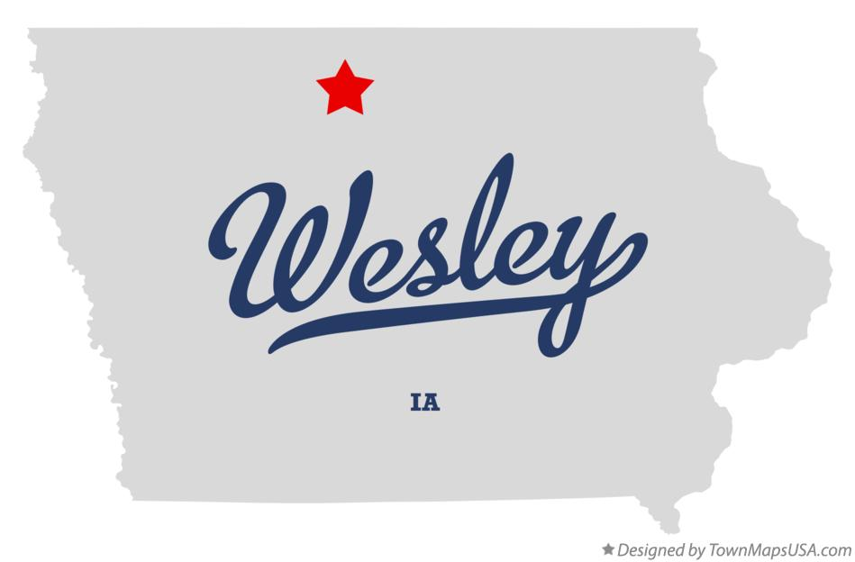 Map of Wesley Iowa IA