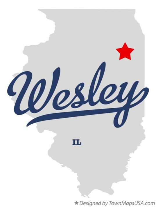 Map of Wesley Illinois IL