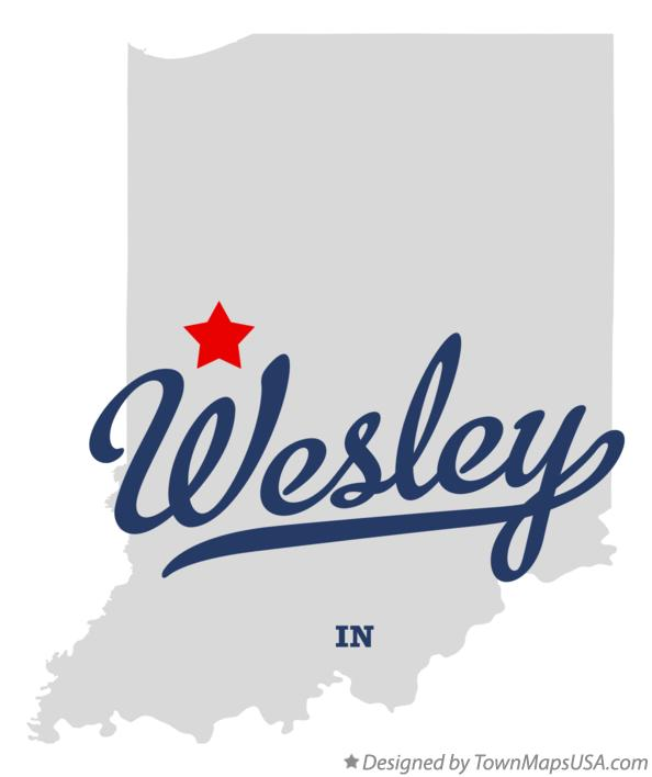 Map of Wesley Indiana IN