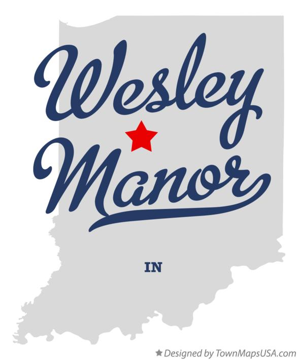 Map of Wesley Manor Indiana IN