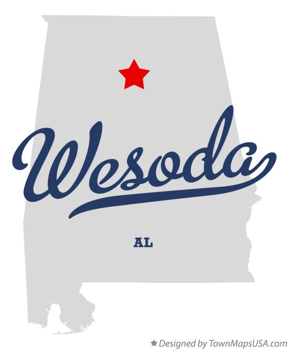 Map of Wesoda Alabama AL