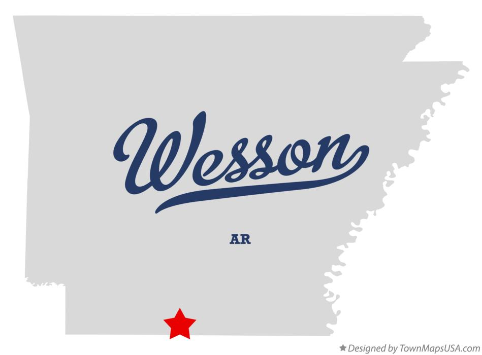 Map of Wesson Arkansas AR