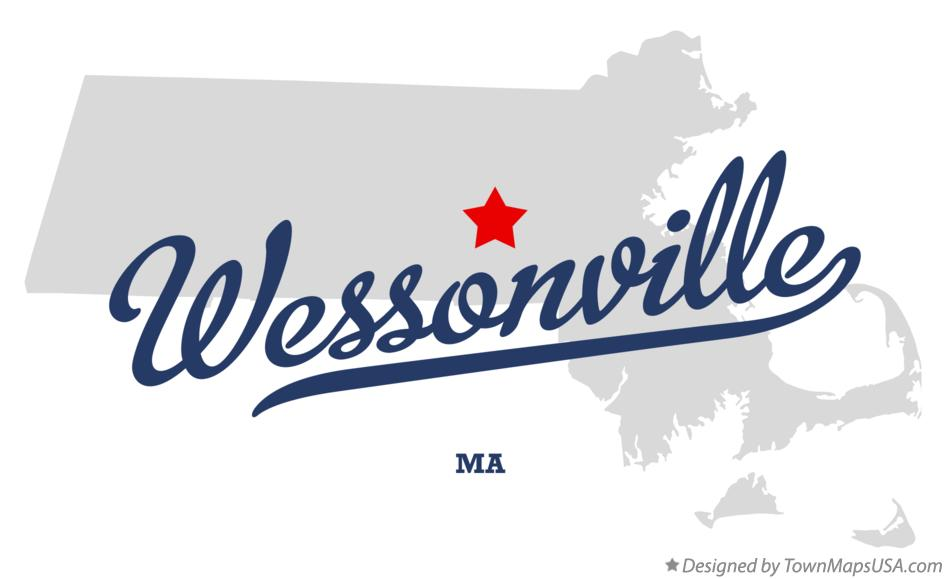 Map of Wessonville Massachusetts MA