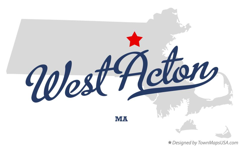 Map of West Acton Massachusetts MA