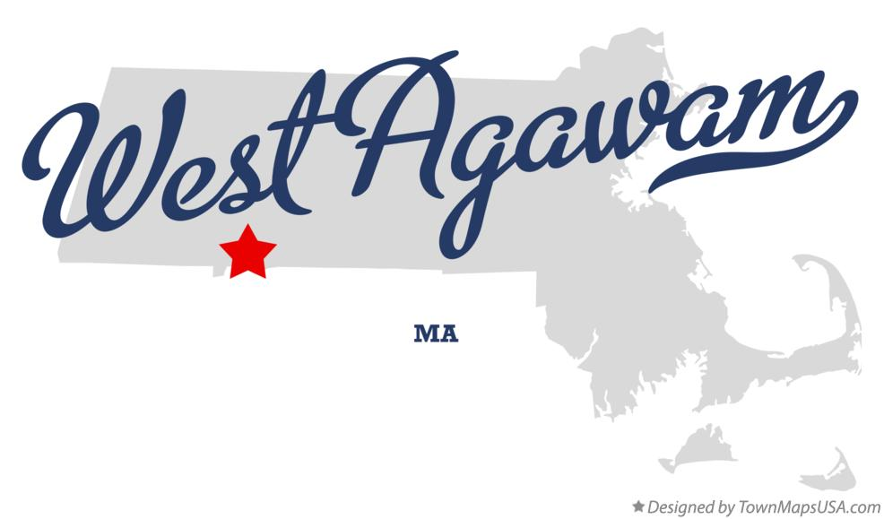 Map of West Agawam Massachusetts MA