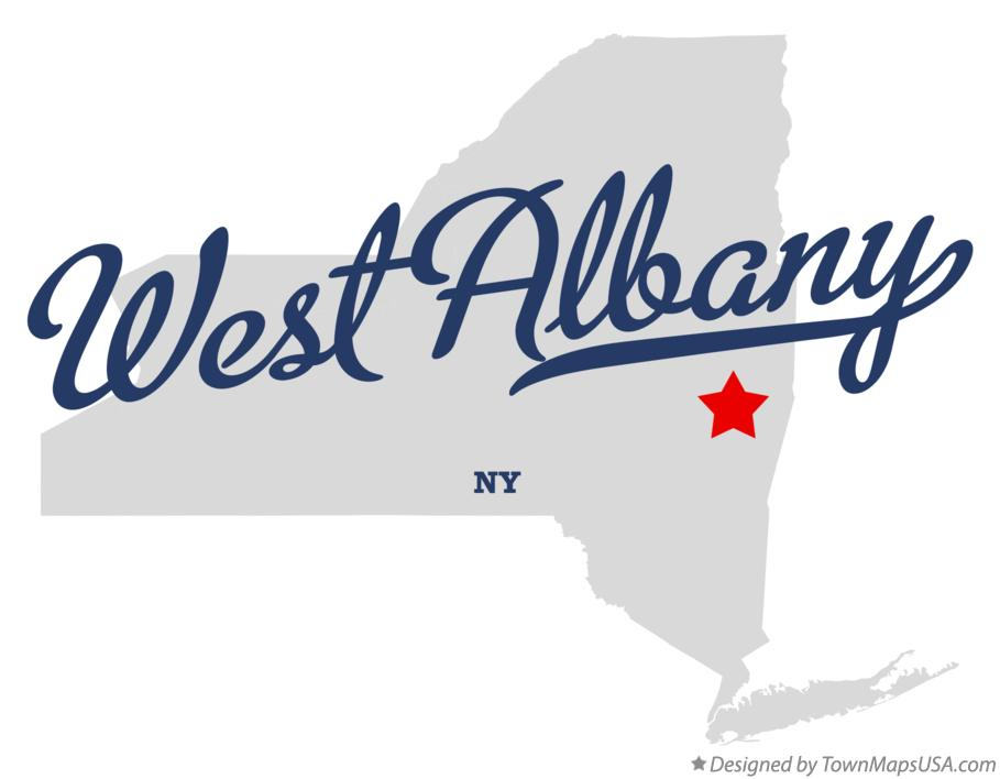 Map of West Albany New York NY