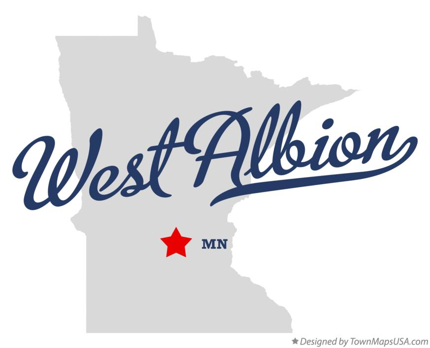 Map of West Albion Minnesota MN