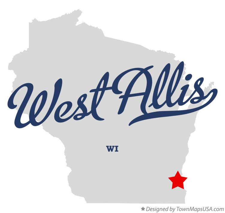 Map of West Allis Wisconsin WI