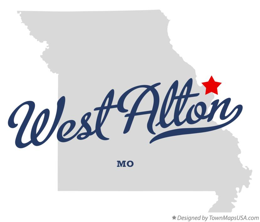Map of West Alton Missouri MO