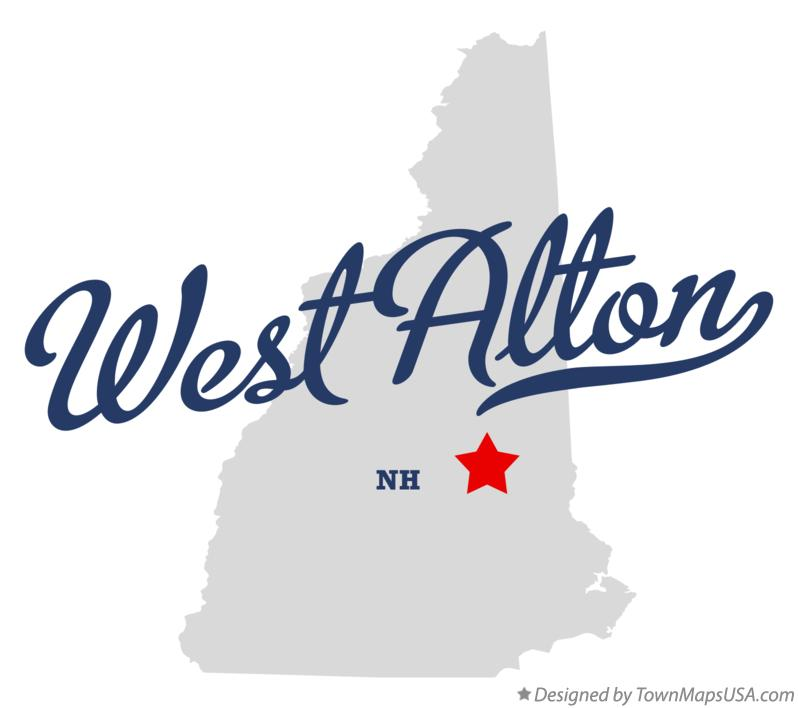 Map of West Alton New Hampshire NH