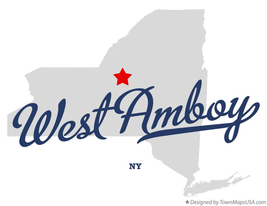 Map of West Amboy New York NY