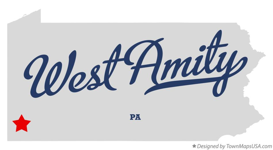 Map of West Amity Pennsylvania PA